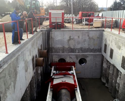 OMS - KBM Series Camera Controlled Guided Auger Boring Machine