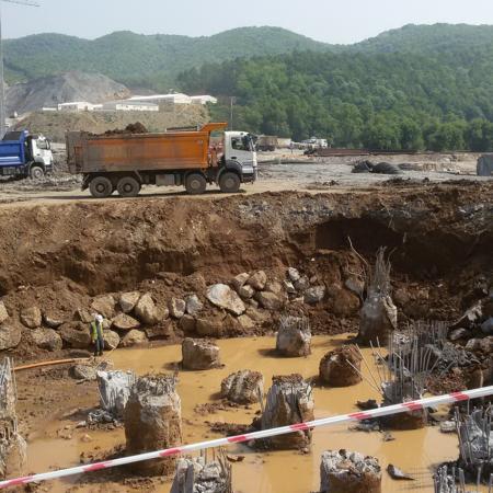 Crane Suspended Vibro Third Bosphorus Bridge