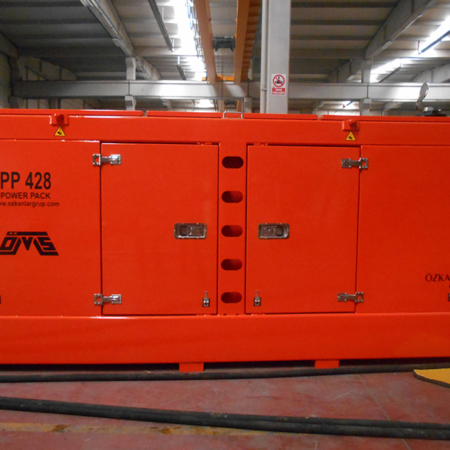 Hydraulic Power Pack Orange Color PP 428 Front View