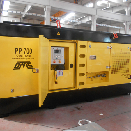 Hydraulic Power Pack Yellow Color Front View