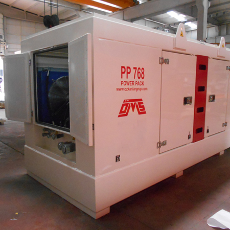Hydraulic Power Pack PP 768 White Color Left View