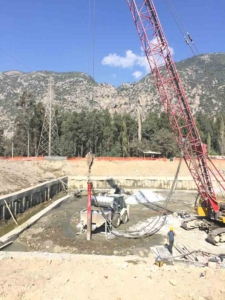 Bottom Feed Stone Column Equipment Feeding Process