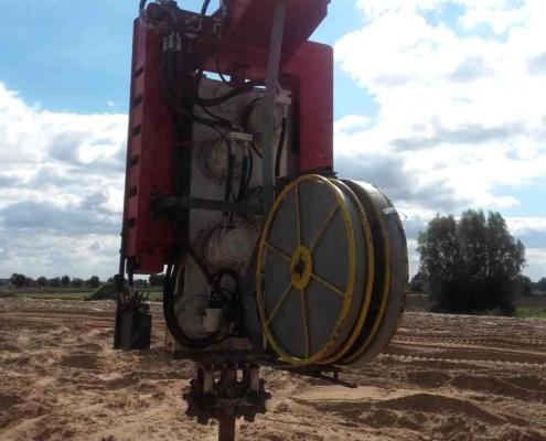 Geotextile Roller of Wick Drain Installation Machine