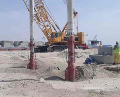 Ground Improvement With Tandem Vibroflotation Equipment Method Starting To Create