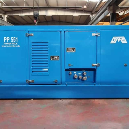 Hydraulic Power Pack Blue Front View PP 551