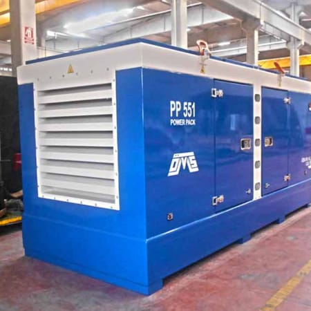 Hydraulic Power Pack Blue Left View PP 551
