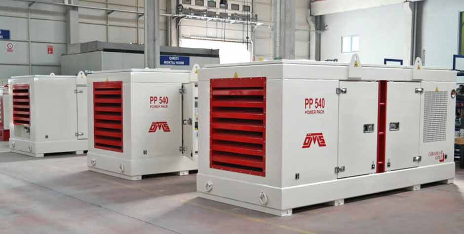 Hydraulic Power Pack White Color