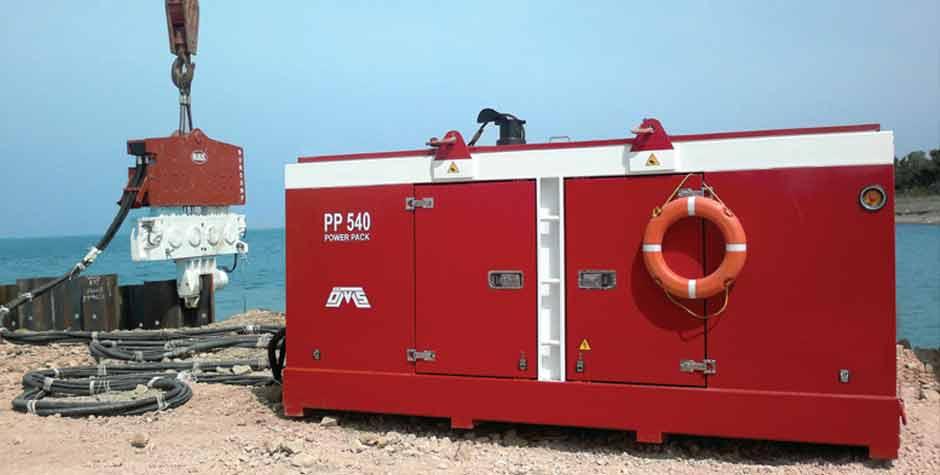 Hydraulic Power Packs on Jobsite
