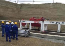 KBM 300 Guided Boring Machine Left View On Jobsite In Azerbaijan