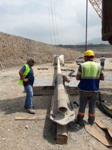 Machine For Stone Column Application Preparing