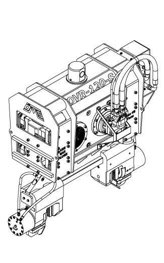 OVR 120 S Isometric View Wireframe Technical Drawing