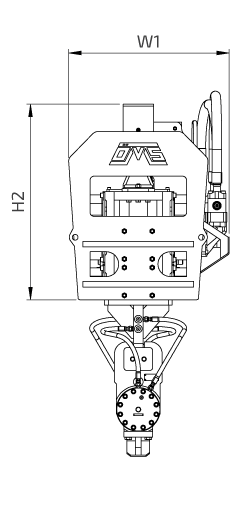 OVR 120 S Side View Wireframe Technical Drawing