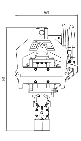 OVR 40 S Side View Wireframe Technical Drawing