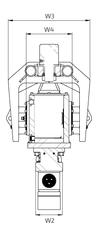 OVR 40 S Back Side View Wireframe Technical Drawing