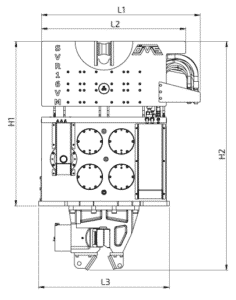 SVR-16-VM-Front-View-Wireframe-Technical-Drawing