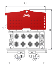 SVR 200 NF Front View Wireframe Technical Drawing