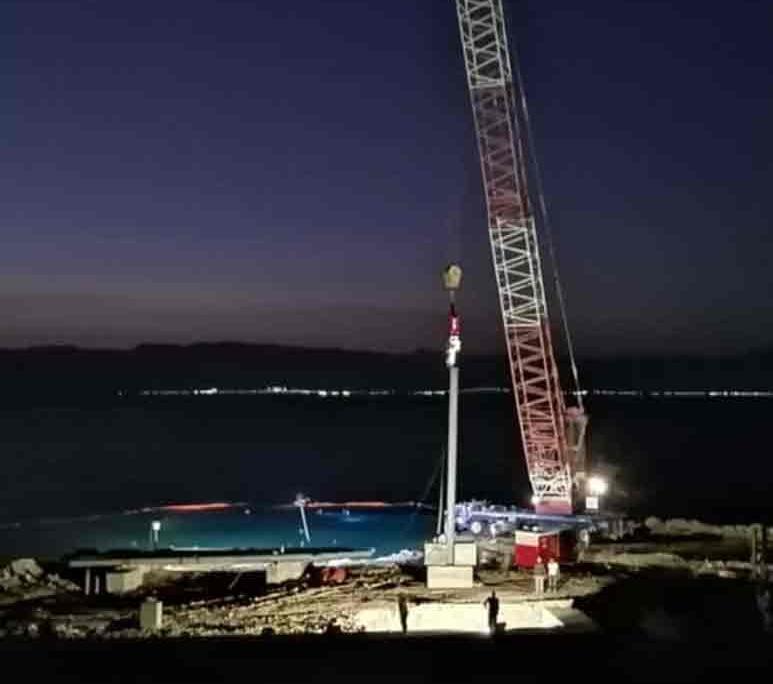SVR 50 NF Jordan Pile Driving Job At Night