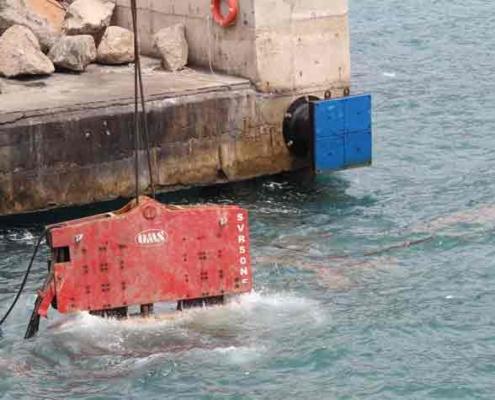 SVR 50 NF Vibro Hammer Underwater Alexandria Port Soil Improvement Project