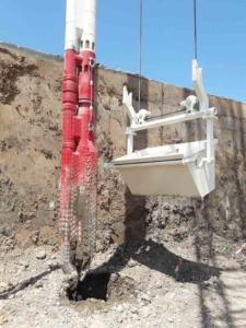 Stone Column Application Feeding Mechanism