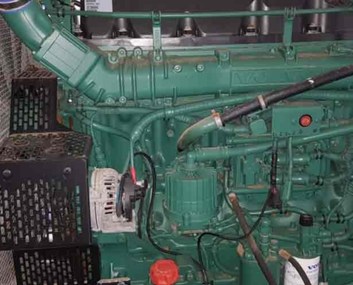 Used Hydraulic Power Pack 540 Volvo Engine White Front View