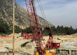 Vibroflot Stone Column Equipment Setup